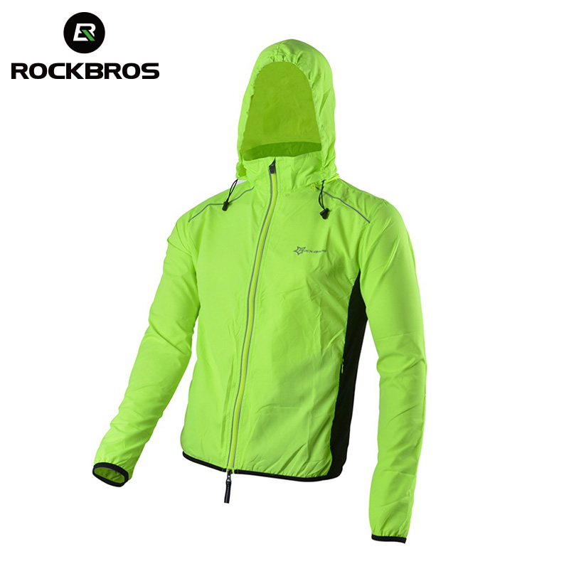 Cycling Clothing Rockbros Cycling Outdoor Sports Jersey Wind Coat Jacket Long Sleeve Black S-4xl